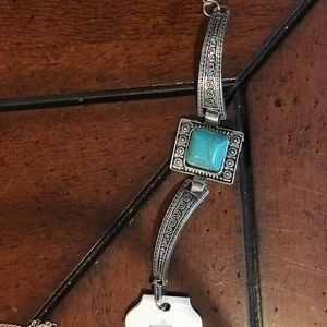 Turquoise and silver bracelet